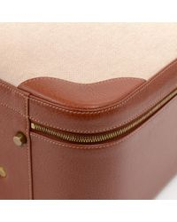 Bolsos de viaje en lona marrón Hermès de color Brown