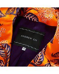 Manteau Andrew Gn en coloris Orange