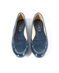 Tod's Blue Patent Leather