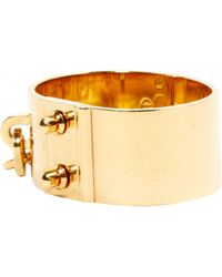 Louis Vuitton - Metallic Pre-owned Gold Metal Bracelet - Lyst