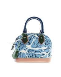 Louis Vuitton Blue Alma Bb Leder Cross Body Tashe