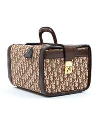Bolsa de mano en cuero marrón Dior de color Brown