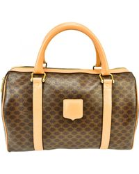 Céline Brown Cloth Bowling Bag