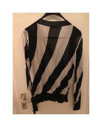 Ann Demeulemeester Black Pullover Baumwolle