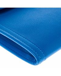Hermès Blue Jige Leder Clutches