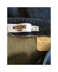 Moschino \n Blue Cotton Skirt
