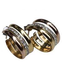 Cartier - Metallic Trinity Yellow Gold Earrings - Lyst