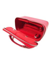 Louis Vuitton Red Leder Vanity