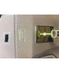 Borsa a mano in pelle cammello Birkin 35 di Hermès in Multicolor