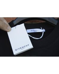 Jersey en algodón negro Givenchy de hombre de color Black