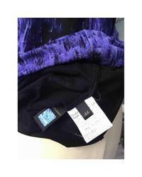 Roberto Cavalli \n Blue Viscose Dress