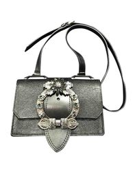 Miu Miu - Black Leather Handbag - Lyst