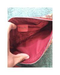 Bolsa clutch en lona multicolor Dior