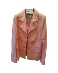 Chanel Pink Cotton Jacket
