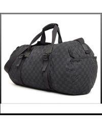 Louis Vuitton Black Leinen Reisetaschen