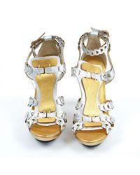 Sandales spartiates en cuir Barbara Bui en coloris Metallic