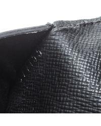 Marroquinería en cuero negro Pocket Organizer Louis Vuitton de hombre de color Black