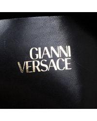 Versace Black Leder Handtaschen