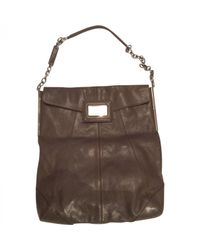 Roger Vivier Gray Grey Leather Handbag