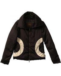 Moncler Black Multicolour Polyester Coat