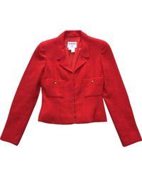 Chaqueta en lana \N Chanel de color Red