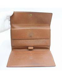 Louis Vuitton Brown Leder Portemonnaies