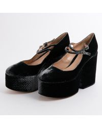 Gianvito Rossi Gray Grey Velvet Heels