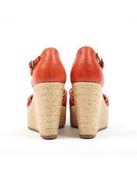 Scarpe col tacco in pelle rosso \N di Fendi in Red