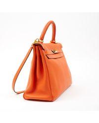 Hermès Kelly 32 Orange Leather Handbag