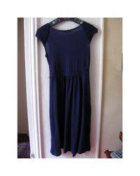 Robe en Coton Violet Maje en coloris Blue