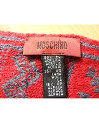 Moschino Red Wool Scarf