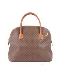 Céline Brown Leinen Handtaschen