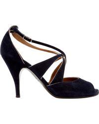 Hermès Blue Sandalen