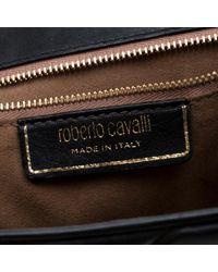Borsa a mano in scamosciato nero di Roberto Cavalli in Black