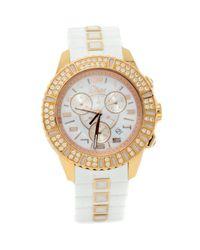 Orologio in oro rosa bianco di Dior in White