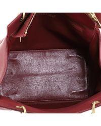 Chanel Red Petite Shopping Tote Leder Shopper