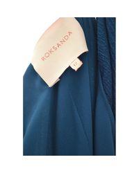 Roksanda Blue Seide Maxi Kleid
