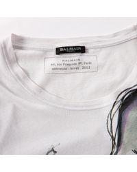 Balmain - Pre-owned White Cotton T-shirt for Men - Lyst