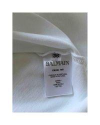 Top en Coton Blanc Balmain en coloris White