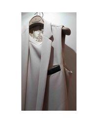 Brunello Cucinelli Natural Seide Midi Kleid