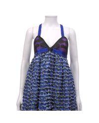 Proenza Schouler Blue Silk Dress
