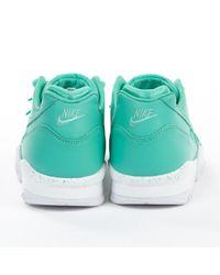 Deportivas en cuero turquesa \N Nike de color Blue