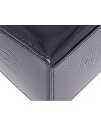 Cartier Blue Lackleder Handtaschen
