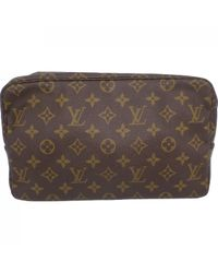 Louis Vuitton Brown Leinen Vanity