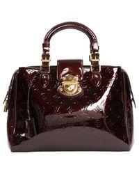Louis Vuitton Brown Lackleder Handtaschen