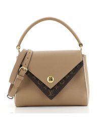 Bolsa de mano en lona marrón Double V Louis Vuitton de color Brown