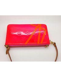 Bolsa de mano en charol rosa Louis Vuitton de color Pink