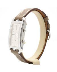 Reloj en acero plateado Cape Cod Dual Time Hermès de color Multicolor