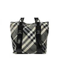 Burberry Black Leinen Handtaschen