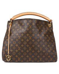 Louis Vuitton Brown Artsy Leinen Handtaschen
